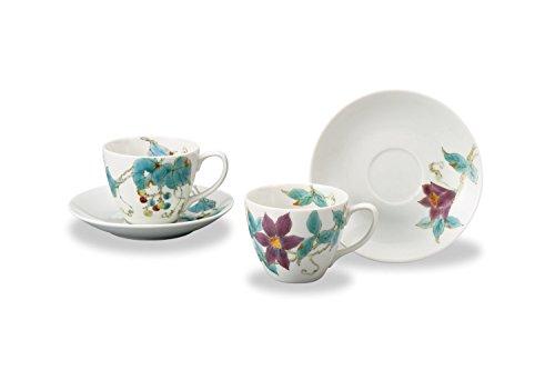JAPANESE Kutani Pottery 2Shu Pair coffee AP3-0960 Made in Japan ... by Kutani
