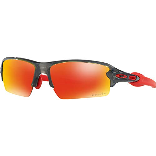 Oakley Men's Flak 2.0 Asian Fit Sunglasses,OS,Gray Smoke/Prizm Ruby (Sunglasses Gray Smoke)
