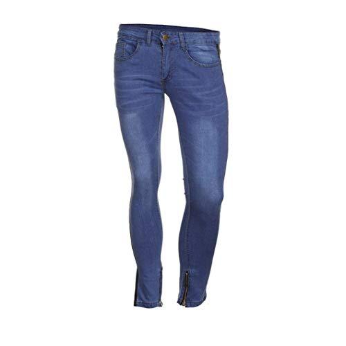 Estilo Cerniera Per Con Il Libero Pantaloni Slim Distressed Aderenti Uomo Fit Nero Strappato Da Tempo Jeans Fitness Elasticizzati Especial Estivi xvv0S6CzR