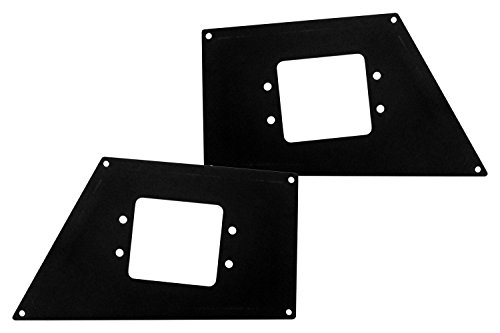 - Go Rhino 241731T Textured Black Powder Coat Finish Front Light Plate (BR10)
