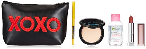 Maybelline New York Essentials Kit (Colossal Kajal, Creamy Matte Lipstick Touch Of Spice, Fit Me Compact Light Ivory…