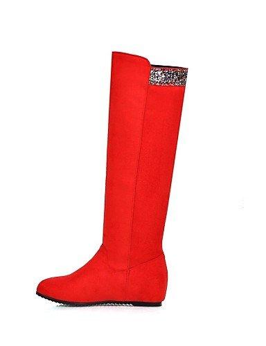 Eu41 Tacón Eu42 Uk8 La A Xzz negro 10 us9 Redonda 5 Rojo 5 Uk7 Blue Cuña Zapatos Red Vellón Casual Cuñas Cn43 Mujer Botas Vestido Azul De Punta Cn42 Moda us10 8 5 5 wxBqvxC1