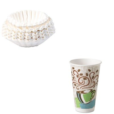 KITBUN1M5002DXE5356CD - Value Kit - Dixie Hot Cups (DXE5356CD) and Bunn Coffee Commercial Coffee Filters (BUN1M5002) by Dixie