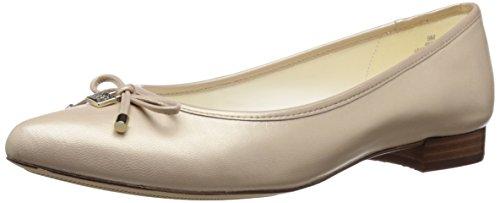 Anne Klein Womens Ovi Ballet Flat Light Natural Leather K1rgx0GZL