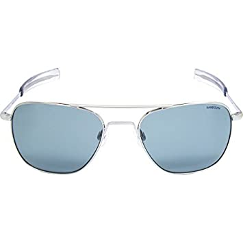 Randolph Engineering pour homme aviateur 55 mm Lunettes de soleil Taille  unique Bright Chrome Blue 559fa83c6e0c