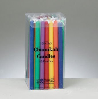 1 X Deluxe Chanukah Candles - Assorted Colors