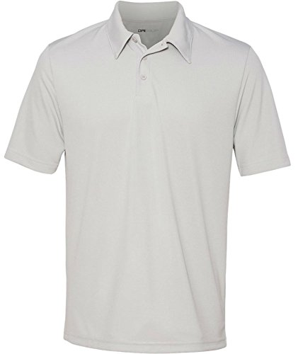 DRI-EQUIP Dry-Wicking Performance 3-Button Mesh Polos in 12 colors. Mens XS-4XL