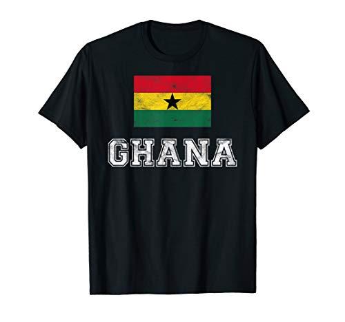 Ghana Flag Vintage I Men Women Kids T-Shirt