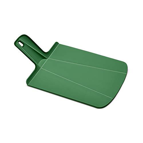 Joseph Joseph 60159 Chop2Pot Foldable Plastic Cutting Board 15 x 8.75 Non-Slip Feet 4-inch Handle Dishwasher Safe, Small, Forest Green