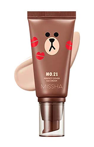 Missha M Perfect cover BB Cream SPF42 PA+++ [Line Friends Edition] (#21 Light Beige)