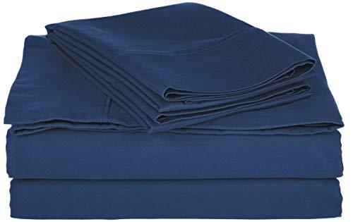 GoLinens Comfy Cotton-Blend Sheet Set Navy ()