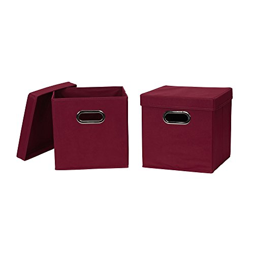 fabric cube bins with lids - 6