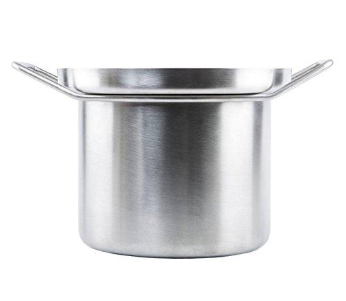 KnIndustrie Whitepot - Pasta Pot Ø10.2 Steel - White by Knindustrie