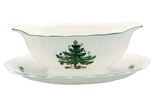 Nikko Happy Holidays Gravy Boat and Stand
