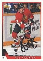 - Neil Wilkinson Chicago Blackhawks 1993 Upper Deck Autographed Card. This item comes with a certificate of authenticity from Autograph-Sports. Autographed