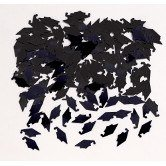 Club Pack of 12 Black Mortar Board Cap Hat Shaped Graduation Day Celebration Confetti Bags 0.5 -