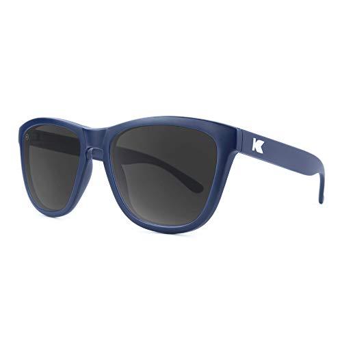 Knockaround Premiums Polarized Sunglasses For Men & Women, Full UV400 Protection (Navy Blue/Smoke)]()