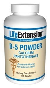 Life Extension, VITAMIN B5 100 GRAMS POWDER