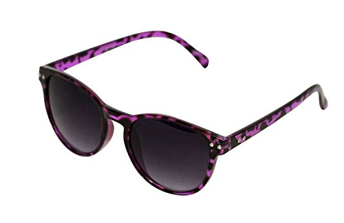 POP Fashionwear 60's Peace Hippie Retro Round Sunglasses (Black/Smoke Lens) (Retro Pop)