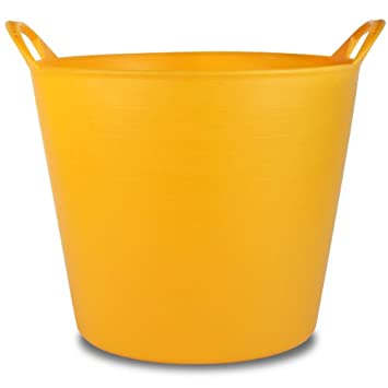 26 Litre Extra Strong Yellow Flexi Tub Storage Builders