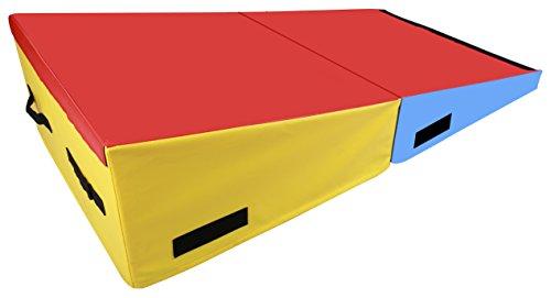 BalanceFrom GoGym Folding Incline Gymnastics Cheese Mat Training Foam Triangle Gym Ramp Tumbling Wedge