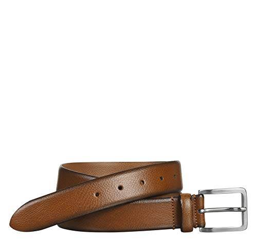 (Johnston & Murphy Men's Feather-Edge Dress Belt Tan 36 US)