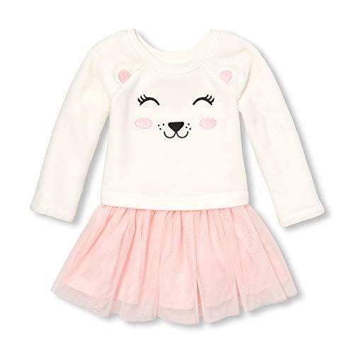 - The Children's Place Girls' Toddler Mesh Glitter Dresses, Snow 2T