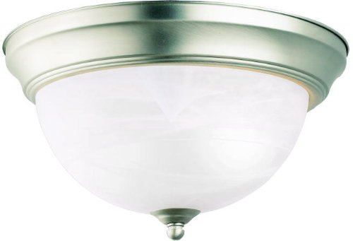 Kichler 10835NI Flush Mount Ceiling Lighting Round, Brushed Nickel 1-Light (12