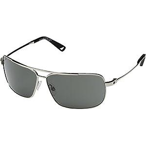 Spy Optic  Men's Leo Silver/Happy Gray Green Sunglasses