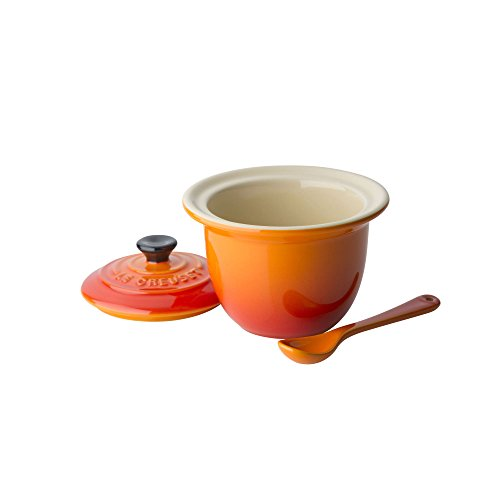 Le Creuset Condiment Spoon - Le Creuset Stoneware Indian Condiment Pot, 0.2 L - Volcanic