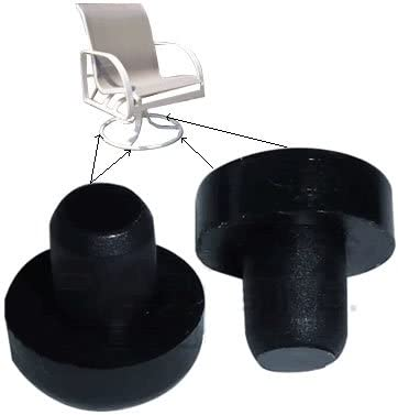 Black 1//2 Nylon Stem Bumper Pack of: 25 for Patio Swivel Chairs