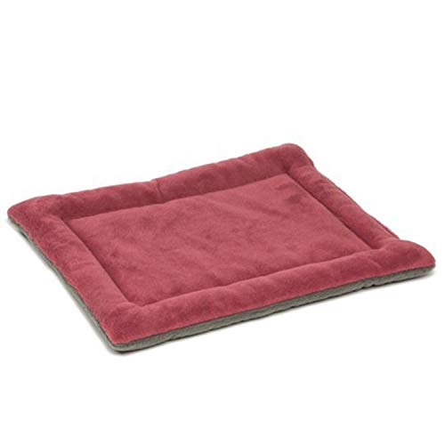 (Winter Dog Cat Cushion pet mats Soft Puppy Sleep Bed Kennel Warm Thick Blanket Mattress for Small Medium Large Dogs Bed,Wine Red,71x51x3 cm)