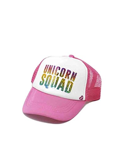 Mother Trucker Kid's Unicorn Squad Pink and Rainbow Hat by Mother Trucker (Image #1)