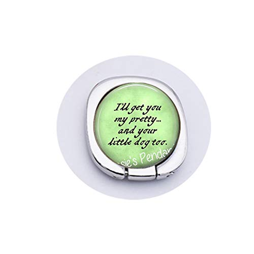 hars I'll get You My Pretty.and Your Little Dog Too. Wicked Witch of The West Quote - Wizard of oz Jewelry - Ruby Slippers Brooch, Gothic Woman Keychain Moblee Phone Grip
