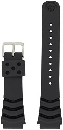 Seiko Original Rubber Curved Line Watch Band 22mm Divers Model and Genuine Seiko Spring Bars