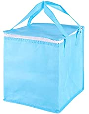 Shopping Insulated Bags Heavy Duty Thermal with Zipper and Handle for Food Delivery Blue M Food Warmer Bag Durable Processed