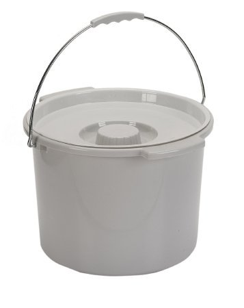 12 Quart Commode - Drive Medical Commode Pail with Lid 12 Quart Gray, 2.38 Pound
