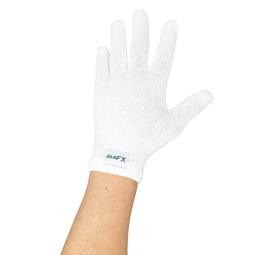 (White Gloves - Regular Size Magic Stretch Spandex Acrylic Polyester Cotton Premium Winter Knit Gloves (1 Pack))
