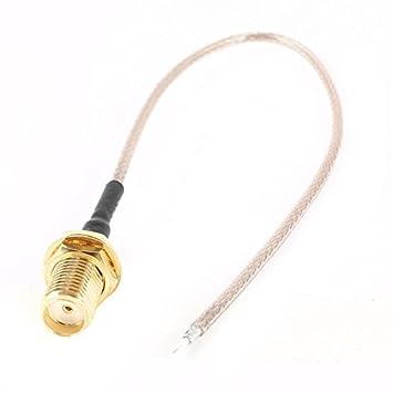 14 centímetros de chumbo SMA Feminino Jack acoplador adaptador WiFi Antena Pigtail Cable
