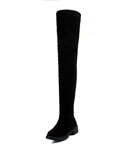 Uk4 C Zapatos Red Cerrada Punta Vestido Tacón Botas Negro us6 Cn39 Mujer Red Y Eu39 Redonda De Trabajo Uk6 Caqui Ante us8 Cn36 Eu36 Rojo Bajo Casual Oficina Xzz gqwUpdU