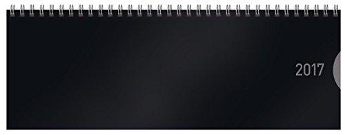Tischquerkalender Classic Colourlux schwarz 2017