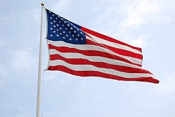 5x8' Nylon American Flag (Brass Lock Classroom)