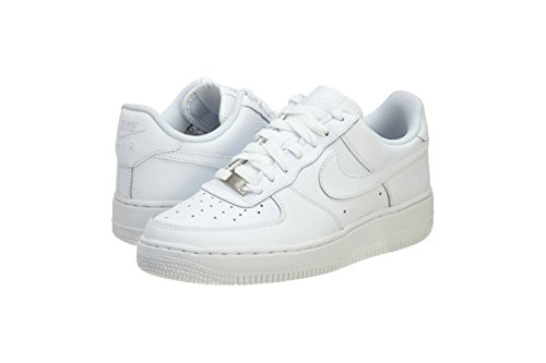 Nike Kids Air Force 1  White/White/White Basketball Shoe 4.5