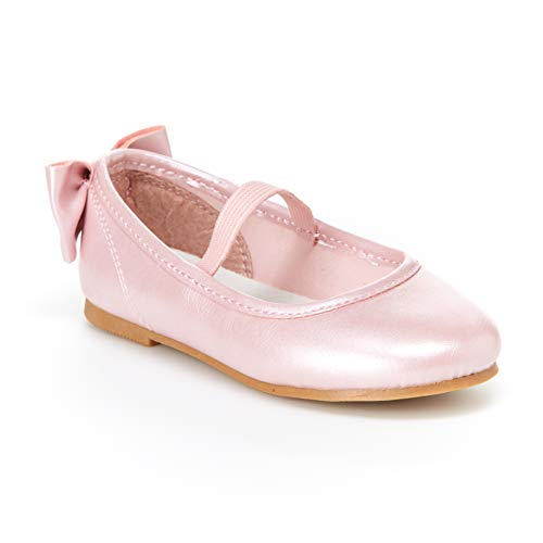 Simple Joys by Carter's Baby Girls' Ana Ballet Flat, Pink, 8 M US Toddler