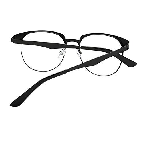 Souche Femmes Hommes Jeu Uv Eyeglasses Clair Cadre Anti Retro Tv Noir Pour Meijunter Goggle argent Oeil Phones Eyewear Ovale Métal Mat Lunettes Lentille UwPST