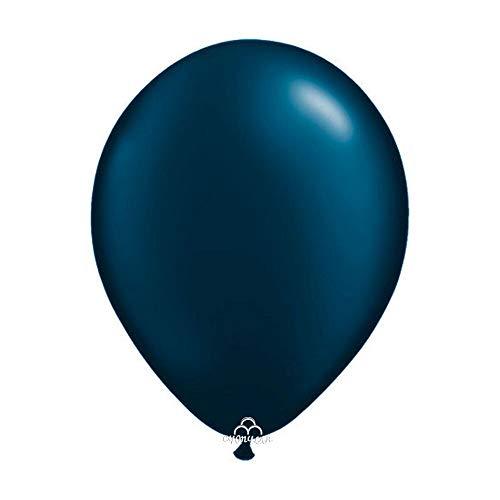 CY Mylar Latex Balloons Pearlized Peach Balloons Gray Balloons Wine Red Balloons Pearl Midnight Blue Balloons (12inch Pearl Midnight Blue)-24pack -