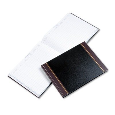 Detailed Visitor Register Book, Black Cover, 208 Pages, 9 1/2 x 12 1/2 by ACCO Brands