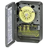 Intermatic T101B Timer Switch, 125V 24 Hr. Mechanical SPST w/NEMA 1 Separate Clock Motor & Circuit Terminal by Intermatic