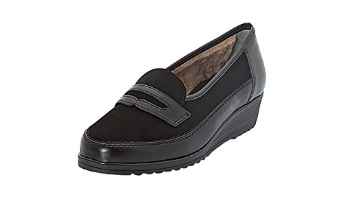 mujer 61 Schwarz negro para Zapatillas 42423 12 ara UTqnx