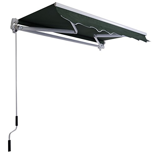 Green 8.2'×6.5' Retractable Deck Awning Sunshade Shelter Canopy Outdoor Manual (Indoor Air Conditioner Cover Xl compare prices)